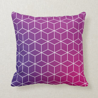 Gradient Cube Pattern on Pillow