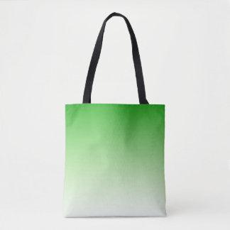 Gradient Dark Green to Light Green tote bag
