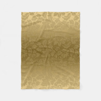 Gradient Gold Damask Fleece Blanket
