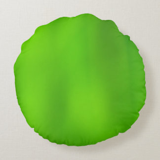 Gradient Green to Light Green Round Pillow