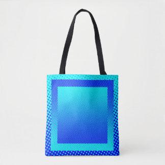 gradient halftone dot festive colors square tote bag