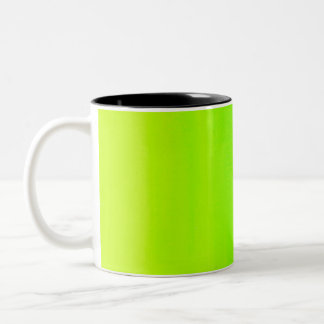 Gradient Lime Green Two-Tone Coffee Mug