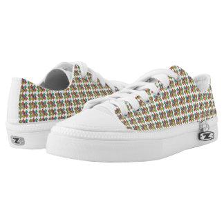 Gradient Multi-Color Low Top Shoes
