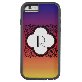Gradient Noir Style Border Monogram Tough Xtreme iPhone 6 Case