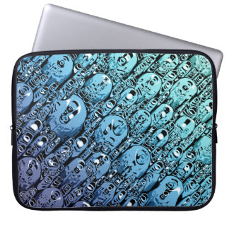 Gradient of Abstract Shapes Laptop Sleeve
