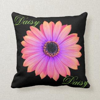 Gradient Pink Daisy Throw Pillow