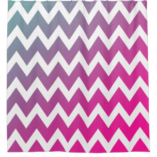 Gradient Pink Purple Blue Chevron Stripes Pattern