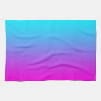 Gradient Pink to Blue Gradation Hot Pink Sky Blue Hand Towels
