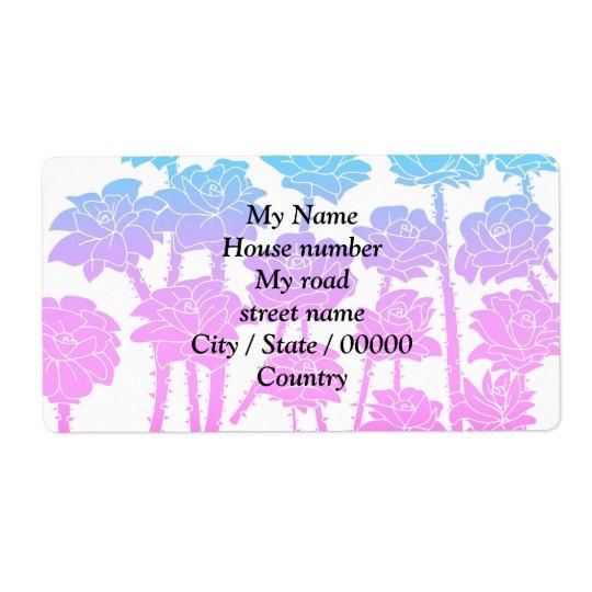 Gradient Roses - Return Address Labels