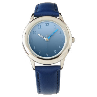 Gradient Simple Colorful Blue Watch