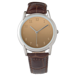 Gradient Simple Colorful Golden Wrist Watch