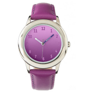 Gradient Simple Colorful Pink Watch