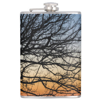 Gradient Sky in Winter Hip Flask