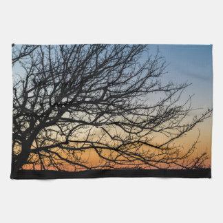 Gradient Sky in Winter Kitchen Towel