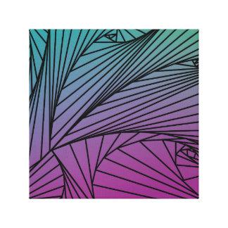 Gradient Spiral Pattern on a Canvas Print