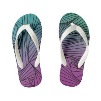 Gradient Spiral Pattern on a Kids Flip-Flop Kid's Flip Flops