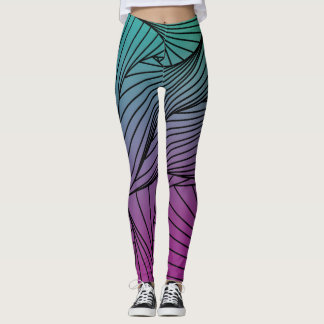 Gradient Spiral Pattern on a Leggings