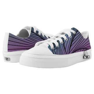 Gradient Spiral Pattern on Shoes