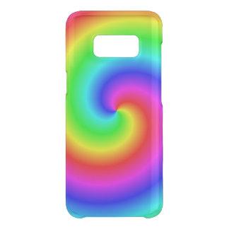 Gradient spiral rainbow-coloured uncommon samsung galaxy s8 case