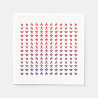 Gradient Stars Fourth of July Paper Napkins