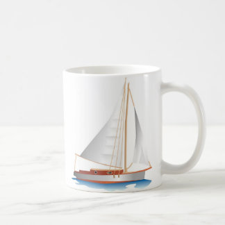 Gradient Style Sailboat Coffee Mug