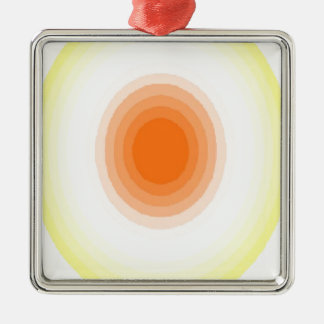 Gradient Sunburst Silver-Colored Square Ornament