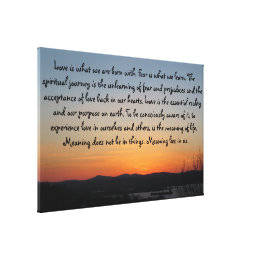 Gradient Sunset | Love Quote Canvas Print ...