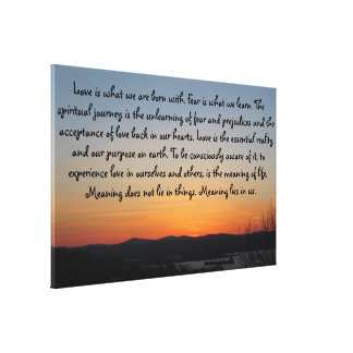 Gradient Sunset | Love Quote Canvas Print