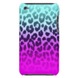 Gradient Tiffany Blue Pink Cheetah Leopard Print Barely There iPod Cases