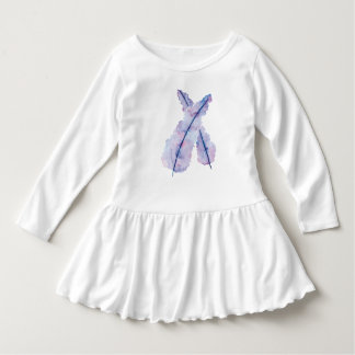 Gradient Watercolor Feathers on Baby Dress