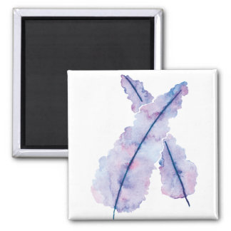 Gradient Watercolor Feathers on Magnet