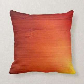 Gradient Wood Throw Pillow