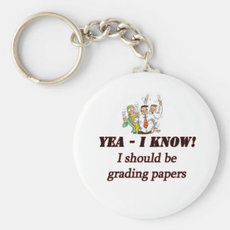 grading papers. keychain