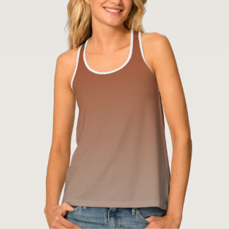 Gradual Clay & Earth Brown Tank Top