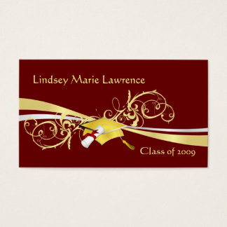 Graduatation Name and Contact Cards