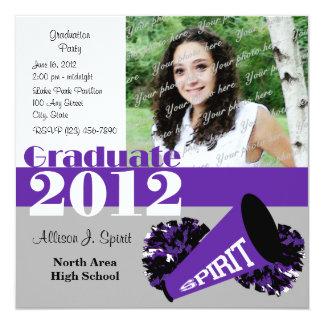 "Graduate 2012 Cheerleader 5.25"" Square Invitation Card"