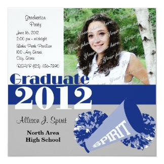 Graduate 2012 Cheerleader Personalized Invite