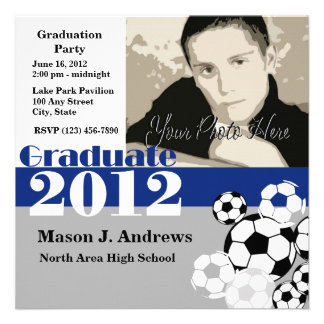 Graduate 2012 Soccer Personalized Announcement