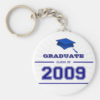 Graduate Class of 2009 Key Ring - Blue