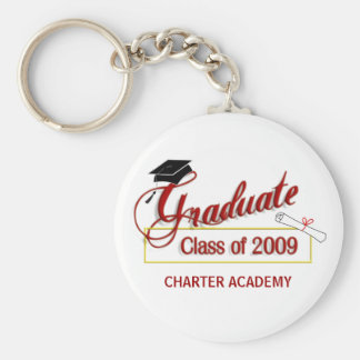 Graduate Class of 2009 Key Ring - Garnet and Gold