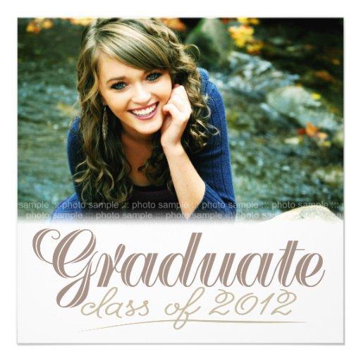 Graduate Class of 2012 Modern White Invite