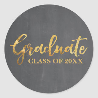 Graduate Class of 2017 Gray and Gold Stickers