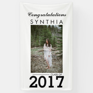 Graduate Congratulations Photo Yard Sign