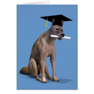 Graduate Coyote Greeting Card