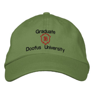 Graduate, Doofus University, DU Embroidered Hat