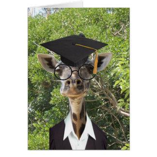 Graduate Giraffe Gold Tassel Card