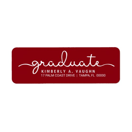 Graduate Hand Lettered Script DIY School Colours