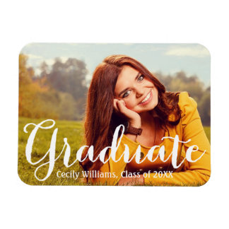 Graduate in Script   2017 Photo Announcement Magnet