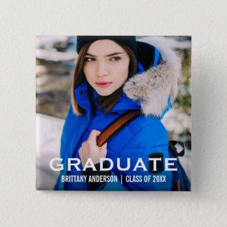 Graduate Modern Photo WB Button Square