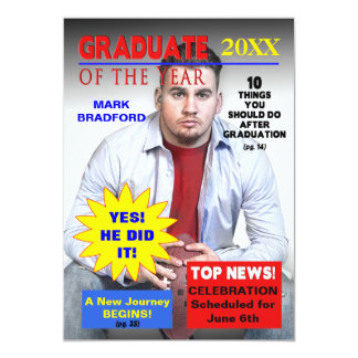 GRADUATE OF THE YEAR - MAGAZINE COVER/PHOTO CARD